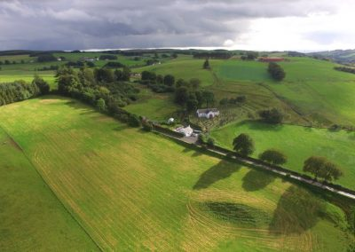Aerial view of the countryside surrounding Boreland in Dumfries and Galloway