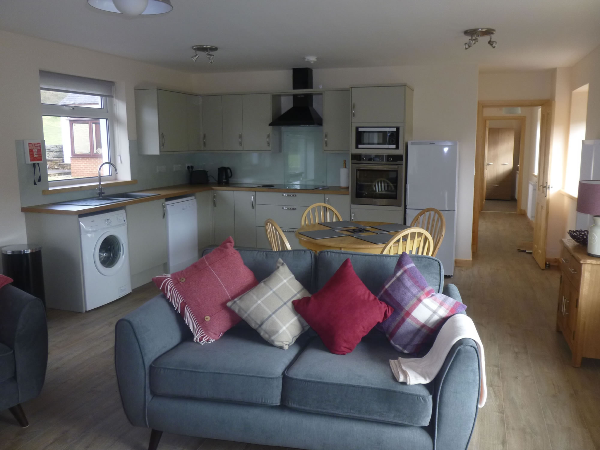 The Open Plan Kitchen / DIning Area of Riverside Holiday Cottage Lockerbie