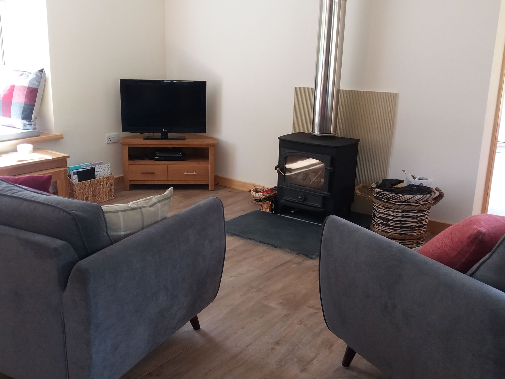 The Open Plan Living Area of Riverside Self Catering Holiday Cottage Southern Scotland