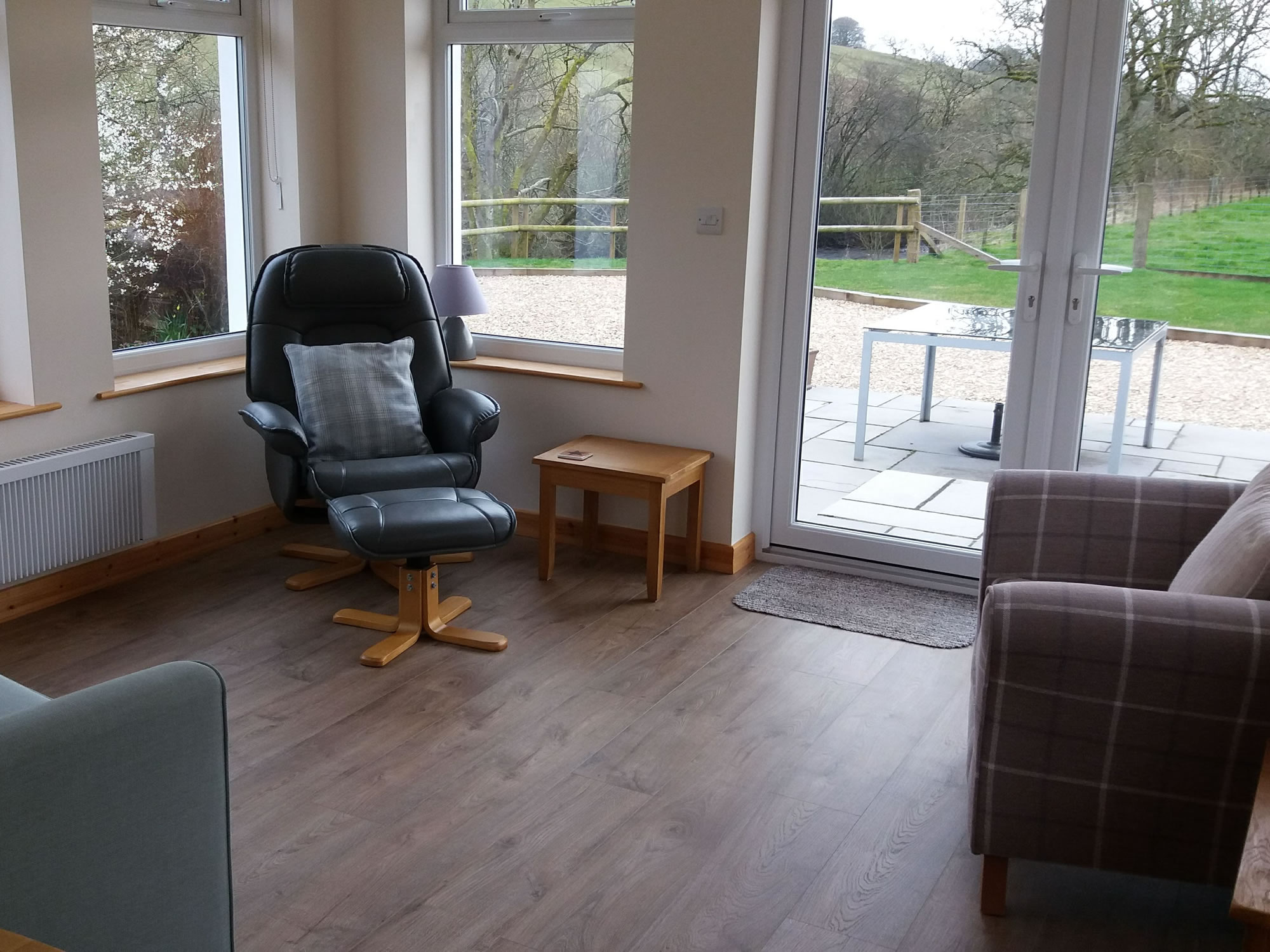 The sunroom of Riverside Self Catering Holiday Cottage in Lockerbie Dumfries and Galloway